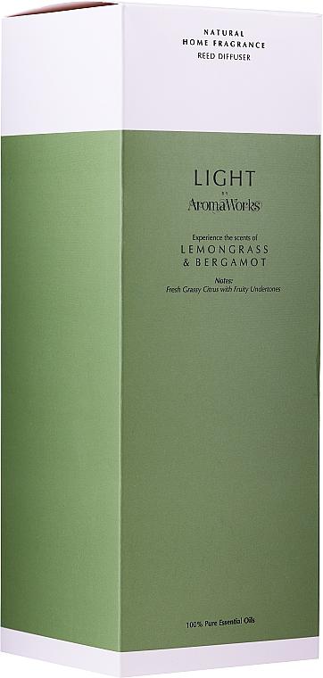 "Ароматический диффузор ""Лемонграсс и бергамот"" - AromaWorks Light Range Lemongrass & Bergamot Reed Diffuser — фото N3"