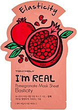 Духи, Парфюмерия, косметика Листовая маска для лица - Tony Moly I'm Real Pomegranate Mask Sheet