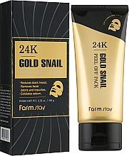 Духи, Парфюмерия, косметика Маска-пленка c 24-каратным золотом и муцином улитки - FarmStay 24K Gold Snail Peel Off Pack