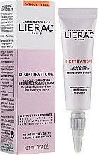 Духи, Парфюмерия, косметика Энергетический гель-крем для кожи вокруг глаз против признаков усталости - Lierac Dioptifatigue Fatigue Correction Re-Energizing Gel-Cream