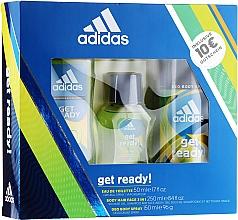 Духи, Парфюмерия, косметика Adidas Get Ready for Him - Набор (edt/50ml + deo/150ml + s/g/250ml)