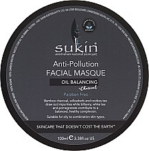 Духи, Парфюмерия, косметика Маска для лица против загрязнений - Sukin Oil Balancing + Charcoal Anti-Pollution Facial Masque