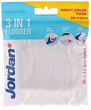 Духи, Парфюмерия, косметика Зубная нить 3 в 1, 36+14 шт - Jordan 3-in-1 Flosser Dental Stick & Tongue Cleaner