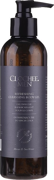 Набор - Clochee Men Facial & Body Skin Care Set (f/cr/50ml + show/gel/250ml + bag) — фото N6