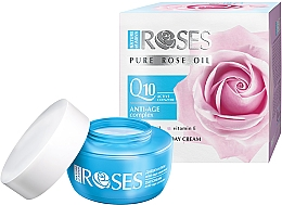 Духи, Парфюмерия, косметика Дневной крем против морщин для лица - Nature of Agiva Roses Pure Rose Oil Anti-Age Complex Q10 Anti-Wrinkle Day Cream