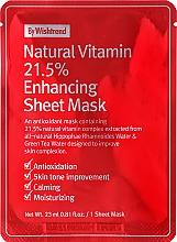 Духи, Парфюмерия, косметика Витаминная антиоксидантная тканевая маска для лица - By Wishtrend Natural Vitamin 21.5% Enhancing Sheet Mask