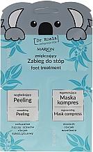 """Духи, Парфюмерия, косметика Набор """"Смягчающая процедура для ног"""" - Marion Dr Koala (foot peeling/6,5ml + foot/mask/6ml)"""