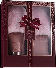 Духи, Парфюмерия, косметика Набор - Baylis & Harding Limited Edition Cranberry Martini (crystals/100g + f/lot/140ml + slippers)