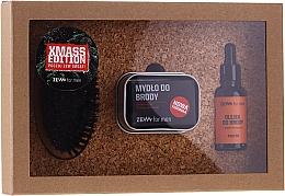 Духи, Парфюмерия, косметика Набор - Zew For Men Set (oil/30ml + soap/85ml + holder/1pcs + brush/1pcs)