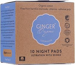 Духи, Парфюмерия, косметика Ночные гигиенические прокладки, 10 шт - Ginger Organic