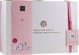 Духи, Парфюмерия, косметика Набор - Rituals The Ritual of Sakura Ceremony XL (b/scrub/250ml + s/gel/200ml + b/cr/200ml + soap/300ml + b/mist/50ml + candle/290g)
