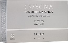 Духи, Парфюмерия, косметика Комплекс для лечения выпадения волос для мужчин - Crescina Hair Follicular Island Re-Growth + Anti-Hair Loss 1900 Man