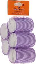 Духи, Парфюмерия, косметика Бигуди 6 шт, 41мм, 3448, фиолетовые - Top Choice