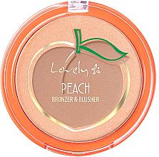 Духи, Парфюмерия, косметика Палетка для лица - Lovely Peach Bronzer And Blusher