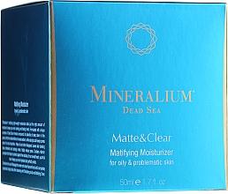 Духи, Парфюмерия, косметика Матирующий увлажняющий крем для жирной проблемной кожи - Mineralium Dead Sea Matte & Clear