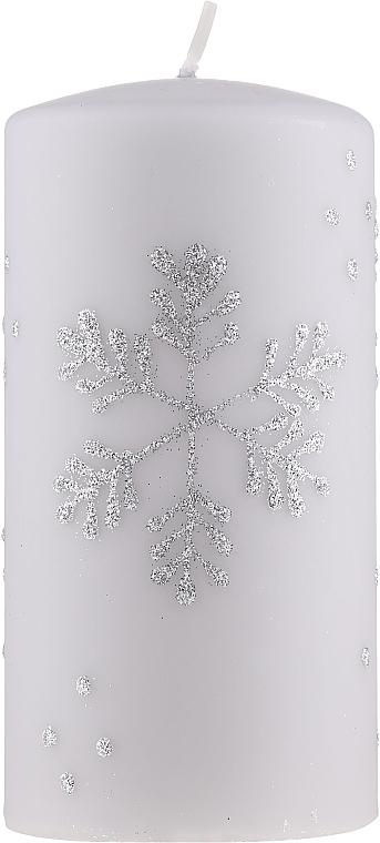 """Декоративная свеча """"Снежинка"""", 7х14см, серая - Artman Christmas — фото N1"""