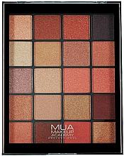Духи, Парфюмерия, косметика Палетка теней для век - MUA 20 Shade Eyeshadow Palette