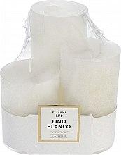 Духи, Парфюмерия, косметика Набор ароматических свечей - Artman Glass Classic Perfume №8 Lino Blanco Candle (candle/3pc)
