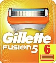 Духи, Парфюмерия, косметика Сменные кассеты для бритья, 6 шт. - Gillette Fusion