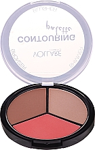Духи, Парфюмерия, косметика Палетка для контурирования лица - Vollare Cosmetics Contouring Palette Bronzer, Shimmer, Blusher