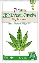 Духи, Парфюмерия, косметика Глиняная маска для лица с маслом конопли - 7th Heaven CBD Infused Cannabis Clay Face Mask