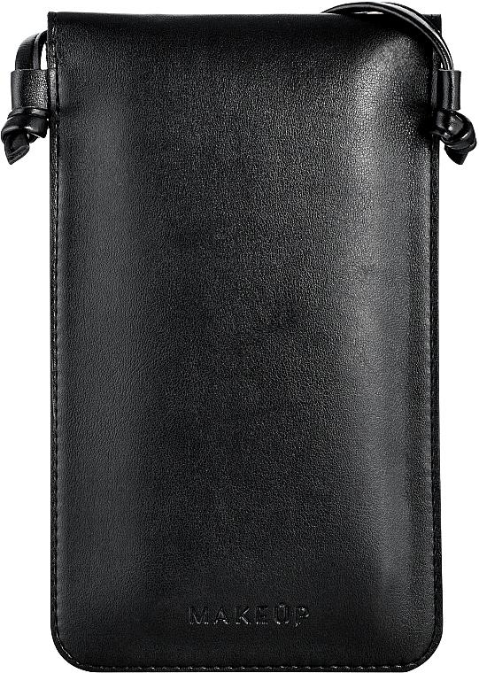 """Чехол-сумка для телефона на ремешке, чёрный """"Cross"""" - Makeup Phone Case Crossbody Black — фото N2"""