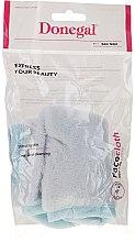 Духи, Парфюмерия, косметика Мочалка для очищения лица из микрофибры, 4320, бело-голубая - Donegal