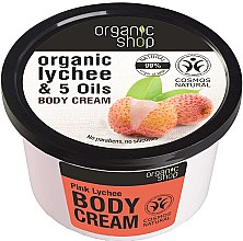 "Духи, Парфюмерия, косметика Крем для тела ""Розовый личи"" - Organic Shop Body Cream Organic Lichee & Oils"