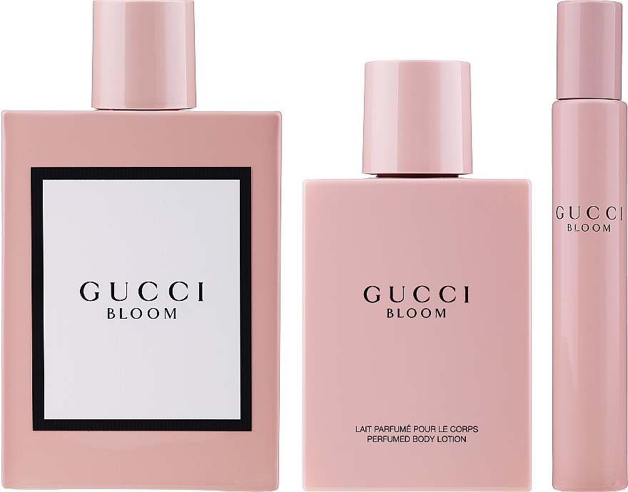 Gucci Bloom - Набор (edp/100ml +b/lotion/100ml + edp/7.4ml) — фото N3