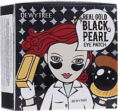 Духи, Парфюмерия, косметика Патчи под глаза с золотом и черным жемчугом - Dewytree Real Gold Black Pearls Eye Patch
