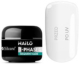 Духи, Парфюмерия, косметика Гель для ногтей - Silcare Nailo 1-Phase Gel UV Sequent Clear