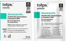 Духи, Парфюмерия, косметика Отшелушивающие салфетки с AHA кислотами - Tolpa Estetic Exfoliating Wipe