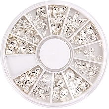 Духи, Парфюмерия, косметика Украшение для ногтей в карусели - Peggy Sage Carousel For Nail Decorations Summer Silver