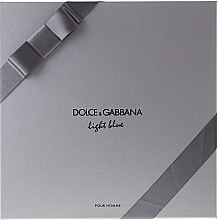 Dolce & Gabbana Light Blue pour Homme - Набор (edt 125 + sh/g 50 + a/sh balm 75) — фото N2