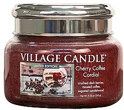 Духи, Парфюмерия, косметика Ароматическая свеча в банке - Village Candle Cherry Coffee Cordial Glass Jar
