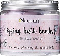 Духи, Парфюмерия, косметика Набор бомбочек для ванны - Nacomi Fizzing Bath Bomb With Grape Seed Oil (bomb/4шт)