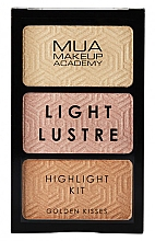 Духи, Парфюмерия, косметика Палетка хайлайтеров для лица - MUA Light Lustre Trio Highlight (Golden Kisses)