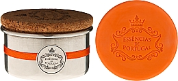 Духи, Парфюмерия, косметика Натуральное мыло - Essencias de Portugal Aluminium Jewel-Keeper With Cork Lid Orange