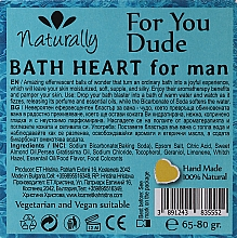 Бомбочка для ванны - Naturally For Yuo Due Bath Heart For Man — фото N2