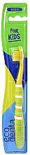 Духи, Парфюмерия, косметика Детская зубная щетка, мягкая, желтая - Ecodenta Soft Toothbrush For Children