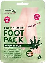 Духи, Парфюмерия, косметика Питательная маска-носочки для ног - Derma V10 Deep Moisturising Foot Pack Hemp Seed Oil