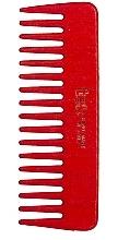 Духи, Парфюмерия, косметика Маленький гребень для волос с широкими зубцами, красный - Tek