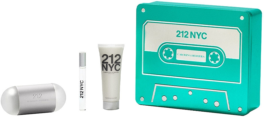 Carolina Herrera 212 NYC - Набор (edt/100ml + edt/10ml + b/lot/75ml) — фото N1
