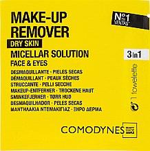 Духи, Парфюмерия, косметика Салфетки для снятия макияжа - Comodynes Make Up Remover Micellar Solution Easy Cleanser