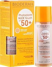 Духи, Парфюмерия, косметика Солнцезащитный крем - Bioderma Photoderm Nude Touch Golden Color Spf 50+