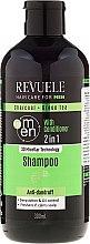 Духи, Парфюмерия, косметика Шампунь и кондиционер для мужчин - Revuele Men Charcoal + Green Tea 2in1 Shampoo