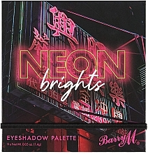 Палетка теней для век - Barry M Eyeshadow Palette Neon Brights — фото N3