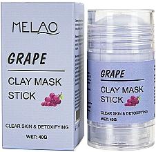 """Духи, Парфюмерия, косметика Маска-стик для лица """"Grape"""" - Melao Grape Clay Mask Stick"""