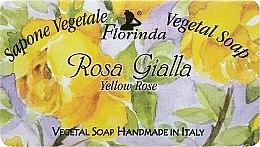 "Духи, Парфюмерия, косметика Мыло натуральное ""Желтая роза"" - Florinda Sapone Vegetal Soap Yellow Rose"