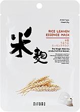 Духи, Парфюмерия, косметика Тканевая маска для лица с экстрактом рисовых отрубей - Mitomo Rice Leaven Essence Mask